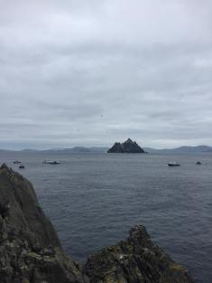Skellig Michael from a distance.