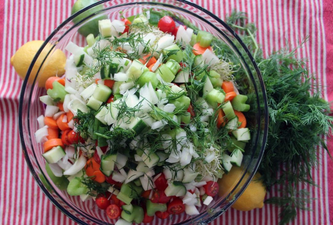 Epic Raw Vegan Salad Recipe Jessica Fitzgerald